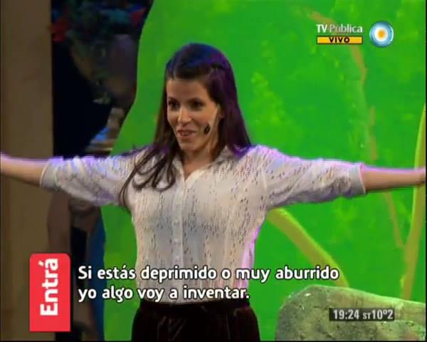 Alicia Martínez sopran en canal 7 TV pública